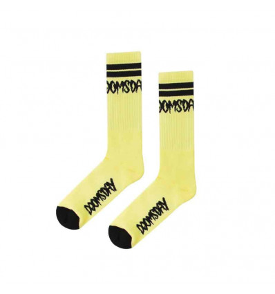 DOOMSDAY logo socks neon calze taglia unica