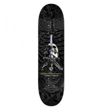 "POWELL PERALTA Skull & Sword Grey 8,75""x32,75"" tavola skate più grip omag"