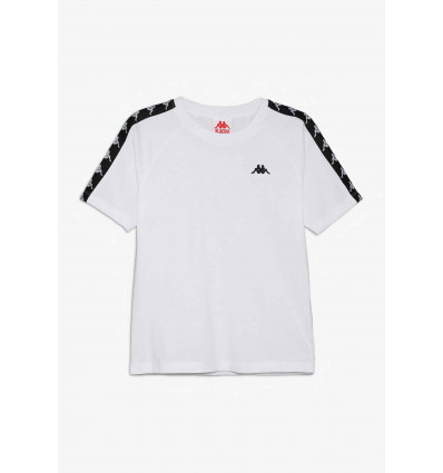 KAPPA 222 BANDA COENLY SLIM white-black t-shirt manica corta