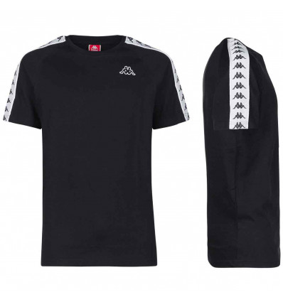 KAPPA 222 BANDA COENLY SLIM black-white t-shirt slim fit