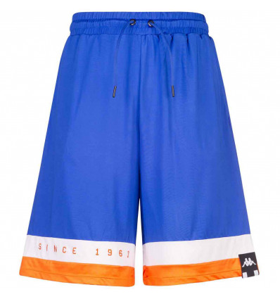 KAPPA AUTHENTIC la cartaw pantaloncino jersey baggy blue/white/orange