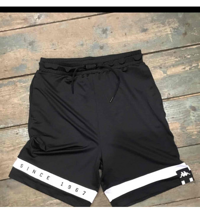 KAPPA AUTHENTIC la cartaw pantaloncino jersey baggy black/white