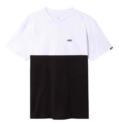 VANS colorblock tee t-shirt manica corta blk/white