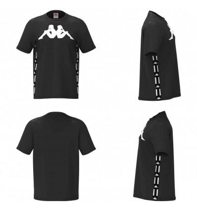 KAPPA authentic la barwa 2 t-shirt uomo black-white