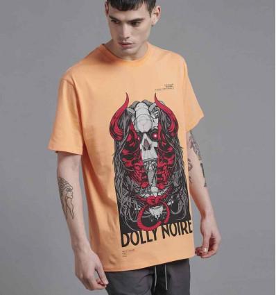 DOLLY NOIRE oni mask peach t-shirt