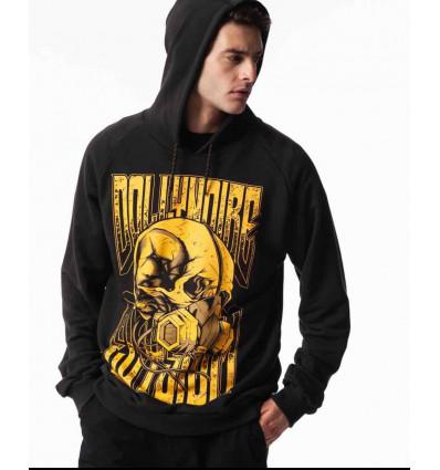 DOLLY NOIRE elysium skull hoodie felpa con cappuccio