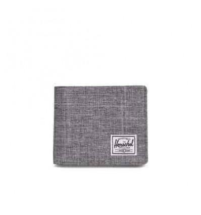 HERSCHEL ROY COIN xl RFID raven crosshatch portafoglio con portamonete