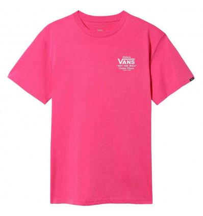 VANS holder street ll fuchsia purple t-shirt a manica corta