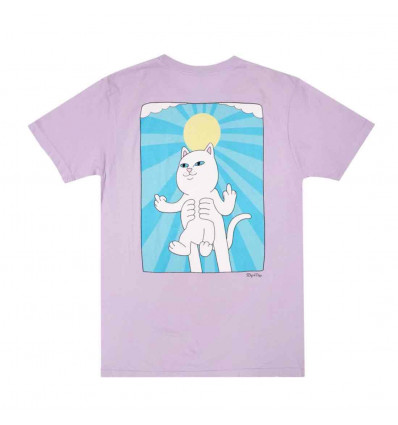 RIPNDIP halo purple mineral wash t-shirt unisex