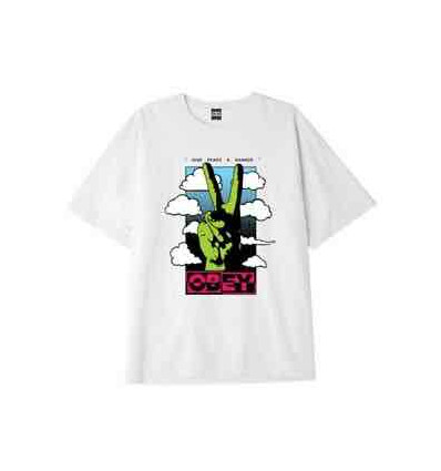 OBEY give peace a chance heavy weight classic box tee