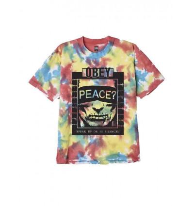 OBEY speak up heavyweight tie dye tee t-shirt manica corta