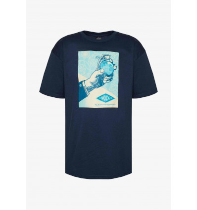 OBEY royal treatment navy basic tee t-shirt manica corta (COPIA)