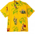 OBEY devils woven camicia uomo mellow yellow multi