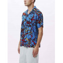 OBEY botched woven camicia uomo manica corta blu multi