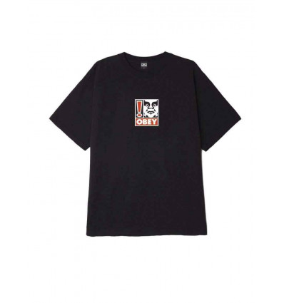 OBEY xclamation point heavy weight classic box t-shirt a manica corta