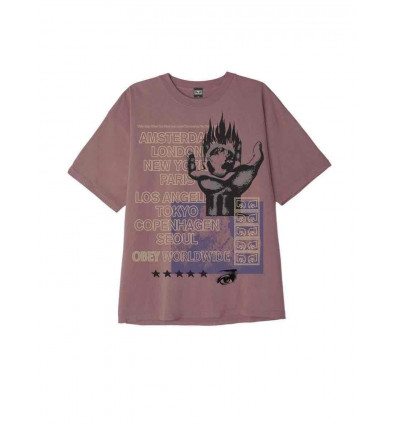 OBEY our planet heavyweight tee t-shirt manica corta