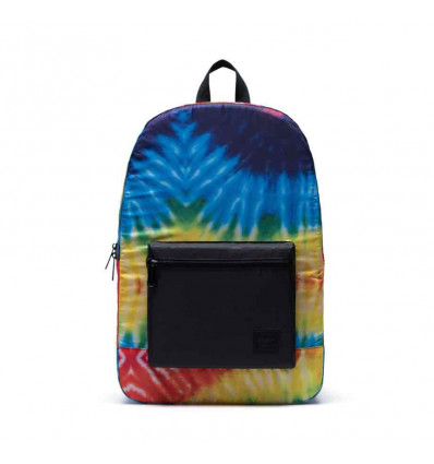 HERSCHEL packable daypack rainbow tie dye zainetto richiudibile