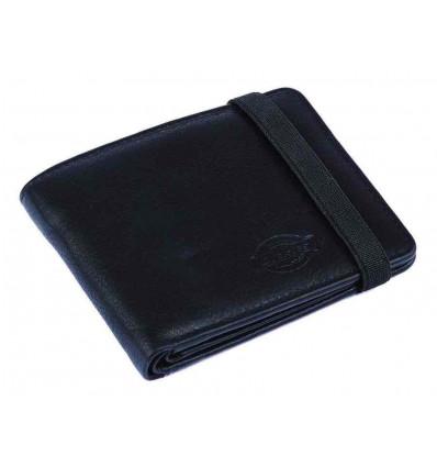 DICKIES wilburn black portafoglio in pelle