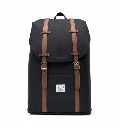 HERSCHEL RETREAT MID black zaino 14L con porta pc
