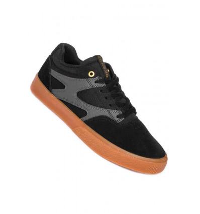 DC KALIS VULC black/grey sneaker skate black/grey
