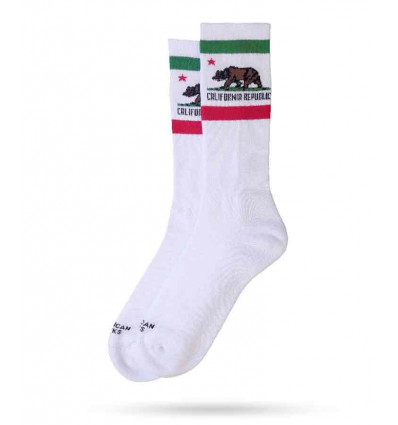 AMERICAN SOCKS CALIFORNIA REPUBLIC MID HIGH CALZE UNISEX TAGLIA UNICA SKATE