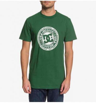 DC circle star green ss t-shirt manica corta