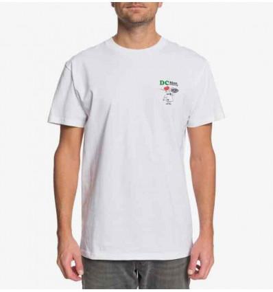 DC we hot since 94 white ss t-shirt manica corta
