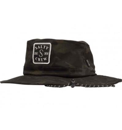 SALTY CREW s-hook boonie camo black cappello da pescatore