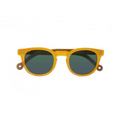 PARAFINA cala mustard occhiale da sole unisex in bambù organico e plastica rici