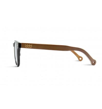 PARAFINA cala black occhiale da sole unisex in bambù organico e plastica ricicl