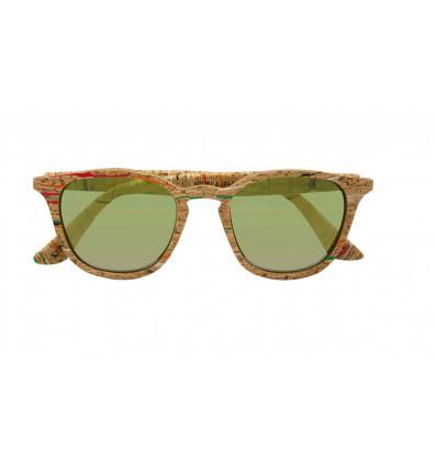 PARAFINA niebla masai occhiali da sole in sughero polarizzati