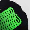 PROPAGANDA ribs black neon green t-shirt manica corta