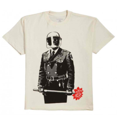 OBEY sadistic florist sustainable t-shirt a manica corta cream