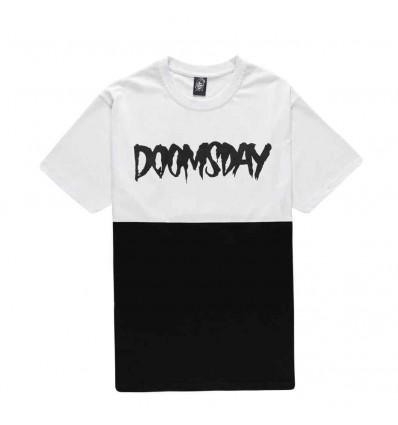 DOOMSDAY LOGO 2 TONE WHITE/BLACK T-SHIRT A MANICA CORTA DA UOMO