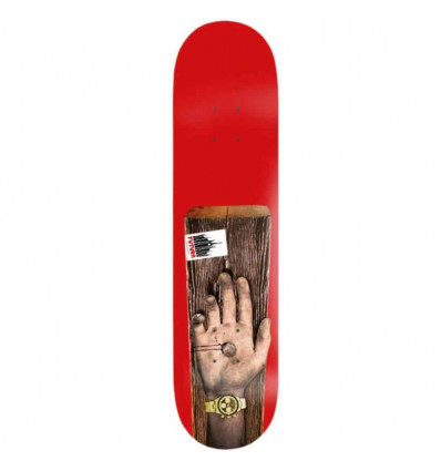 "FUTURA THE PARTY IS OVER 8,25"" red tavola skate grip omaggio"