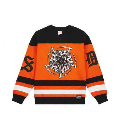 DOOMSDAY hockey star black/orange felpa