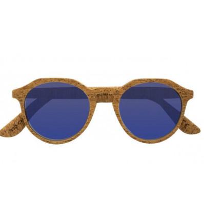 PARAFINA calima dark cork blu occhiali da sole in sughero polarizzati