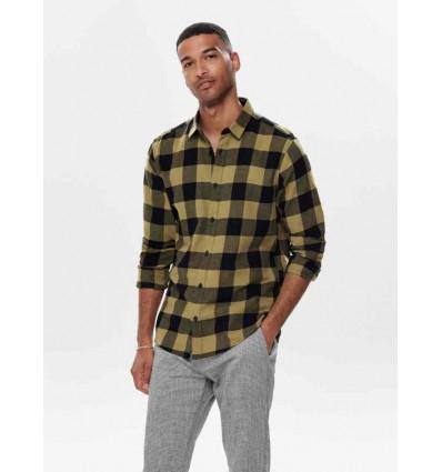 ONLY E SONS gudmund ls checked shirt noos camicia a manica lunga da uomo