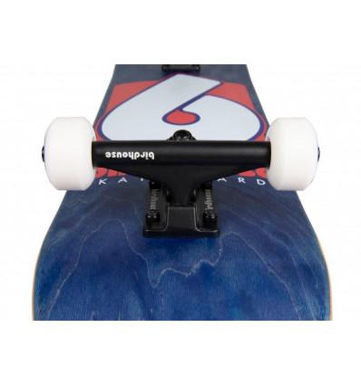 """BIRDHOUSE B-logo complete navy red 7,75"""" skate assemblato"""