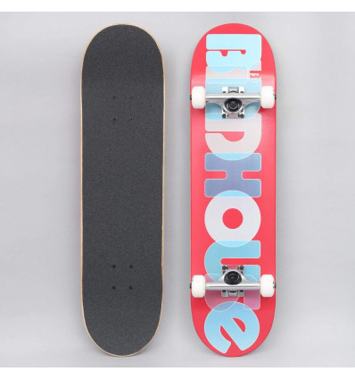 """BIRDHOUSE stage 1 opacity logo 2 complete navy red 7,75"""" skate assemblato"""