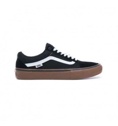 Vans old skool pro blk/wht/gum sneakers skate unisex