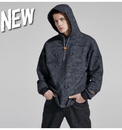 DOLLY NOIRE inferno hockey hoodie hoodie felpe con cappuccio