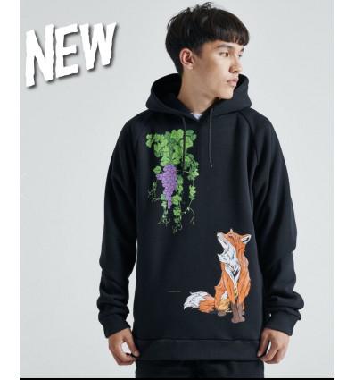 DOLLY NOIRE volpe hoodie felpa con cappuccio black